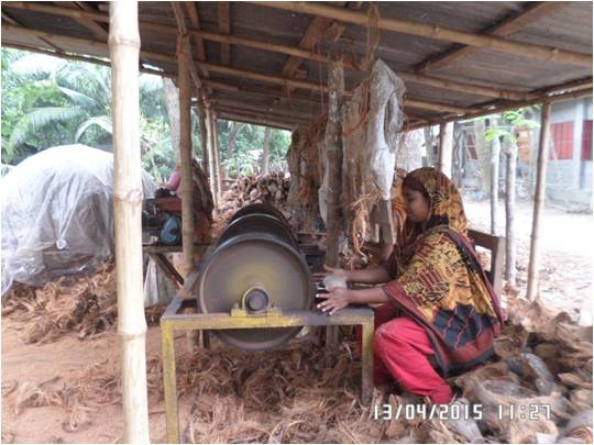 Coconut  Coir Works, Sajena Begum, Nolopara W.S. Dacope, Khulna